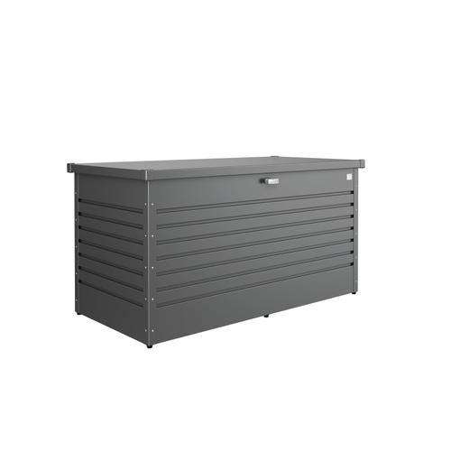 Coffre de jardin Biohort 'Hobby 160' gris foncé métallique 160 x 79 cm