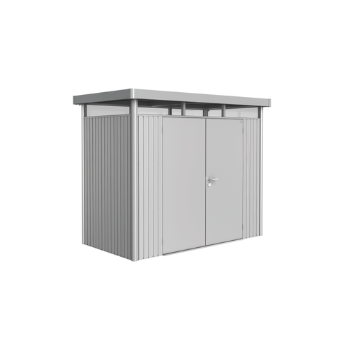 Biohort tuinhuis 'HighLine H1 dubbele deur' staal zilver metallic 3,33 m²