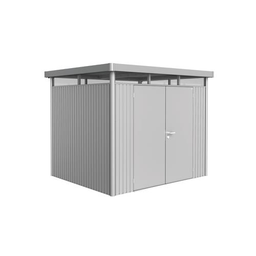 Biohort tuinhuis 'HighLine H3 dubbele deur' staal zilver metallic 5,34 m²