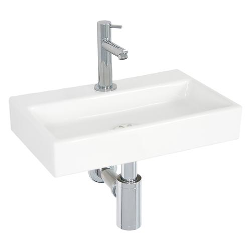 Lave-mains AquaVive Arize céramique blanc 38cm