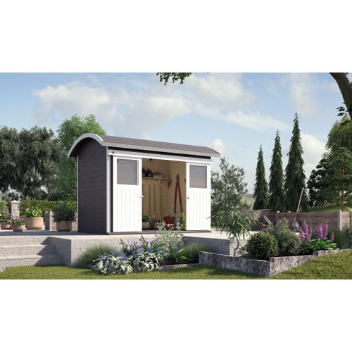 Weka tuinhuis 228 antraciet 209x295cm