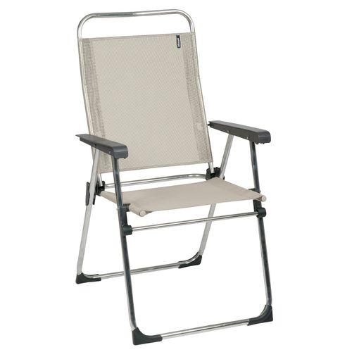 Chaise de camping Lafuma Victoria pliable beige