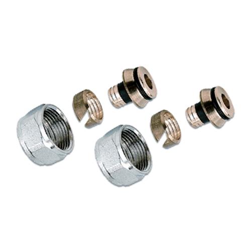 """Saninstal aansluitkoppeling 3/4"""" 16 mm - 2 stuks"""