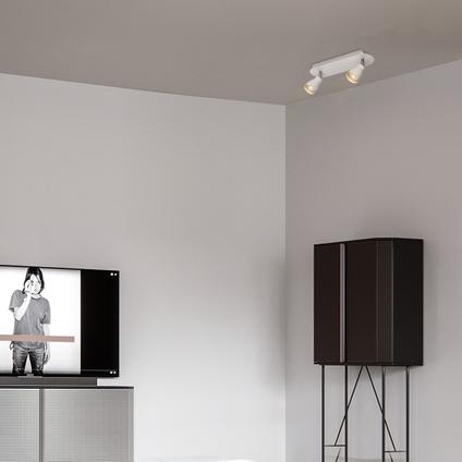 Home Sweet Home opbouwspot 'Alba' wit 2x5,8W