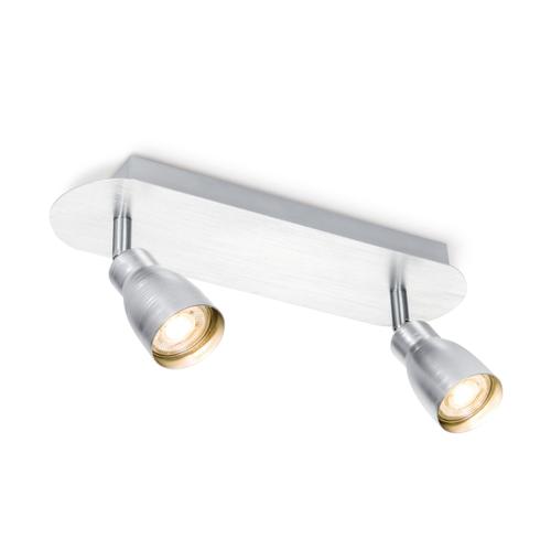 Home Sweet Home spot LED Alba aluminium 2x5,8W