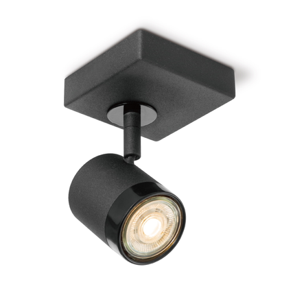Home Sweet Home spotlamp 'Manu' zwart 15cm 5,8W