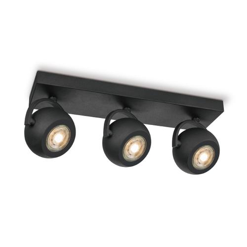 Home Sweet Home spot LED Nop noir 3x5,8W