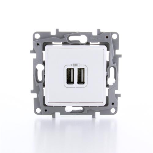Legrand NILOÉ inbouw USB-lader -  wit