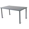 Table de jardin Central Park Almunda anthracite aluminium 145x80cm