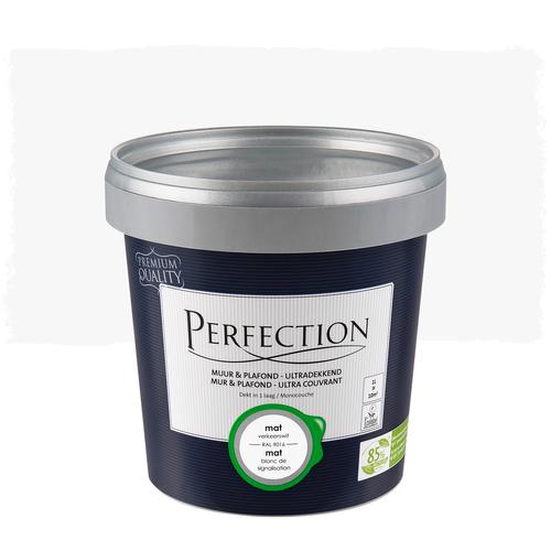 Perfection muurverf ultradekkend mat RAL 9016 1L