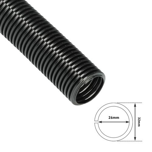 Chacon geribde kabelorganiser D-Line 32mmx1,1m zwart