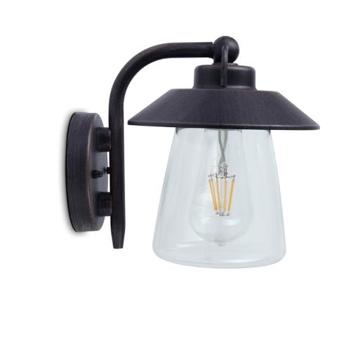 Lutec wandlamp 'Cate' bruin 60W