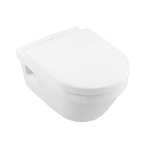 Villeroy & Boch wandcloset + toiletzitting Targa porselein wit 53x37x33cm