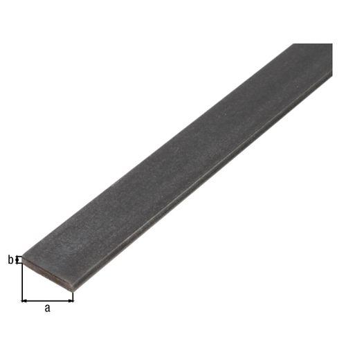 Profilé plat GAH Alberts acier anthracite 1 m x 1 cm