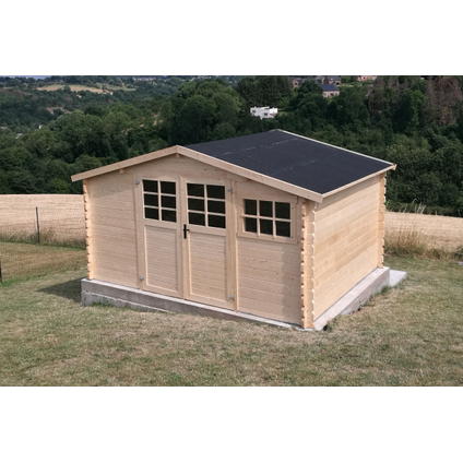 Solid tuinhuis Initia Tyrol hout 11,56m² 388x298cm