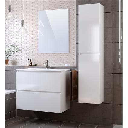 T-Bath kolomkast Mystic 140cm wit glanzend