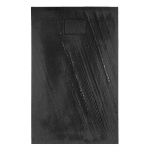 Allibert douchebak Rockstone rechthoekig 140x90cm donkergrijs mat