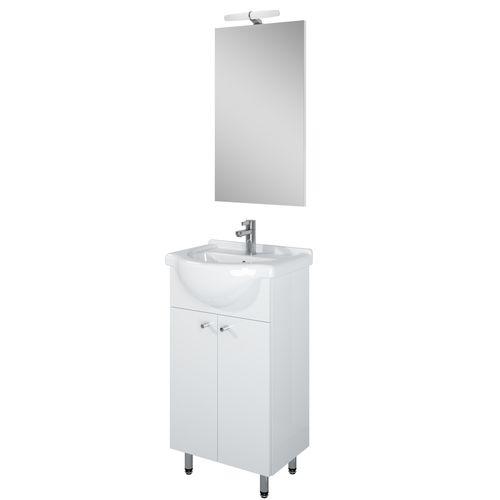 Meuble de salle de bains AquaVive Liro blanc 45cm