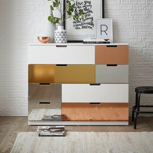 Transform zelfklevende decoratiefolie Metallic zilver 45x150cm