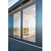 Paroi latérale vitrée Biohort pour 'CasaNova' argent métallique