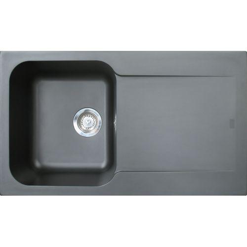 EsseBagno spoelbak hars zwart 86x50cm
