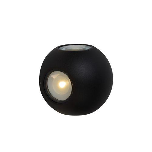 Lucide wandverlichting LED Yupla zwart 4x8W