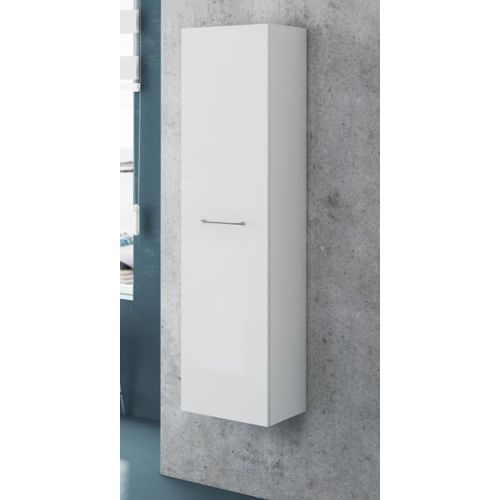 Royo kolomkast 1 deur Click glanzend wit 35x140cm