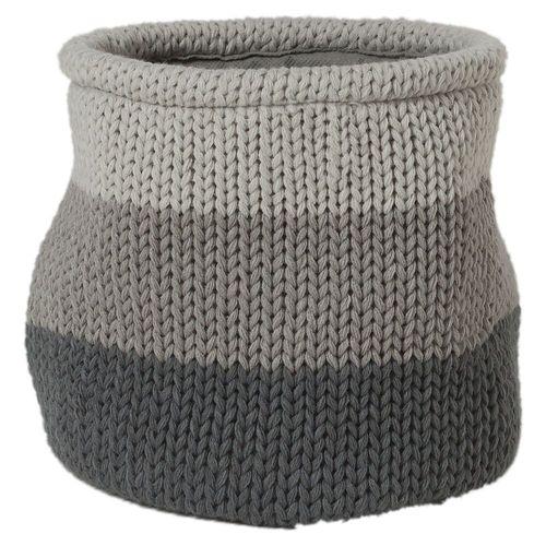 Panier à linge Sealskin 'Knitted' gris 6 L