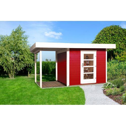 Abri de jardin Weka172 Type A GR2 rouge