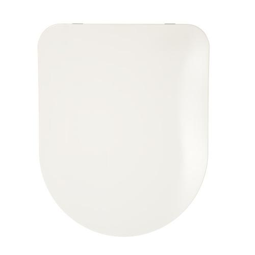 Abattant WC Aquazuro Forme en D blanc Duroplast Softclose