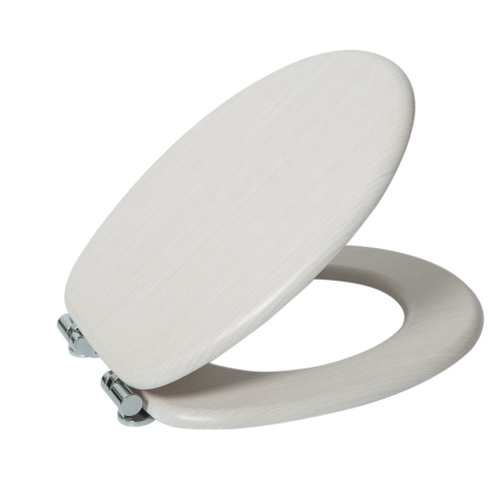 Abattant WC AquaVive chêne blanc MDF Softclose
