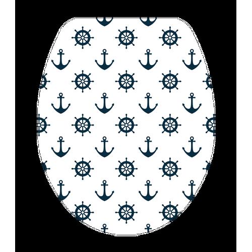 Abattant WC AquaVive Marine bleu Duroplast Softclose