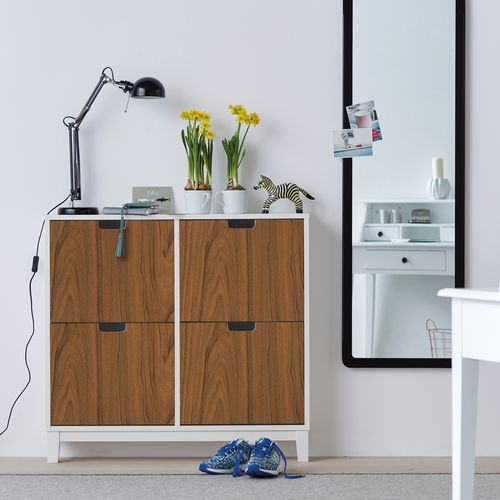 Transform zelfklevende decoratiefolie Walnut wood bruin 45x200cm