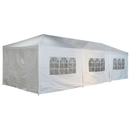 Tonelle Central Park Party Feria XL 2,97x8,87m blanc