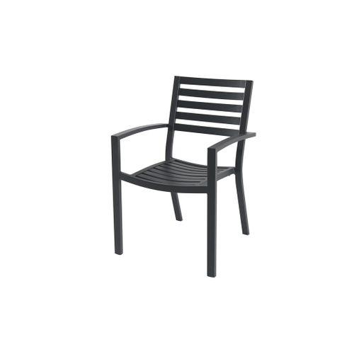 Chaise de jardin Central Park Vina aluminium noir 57,5x85,5cm