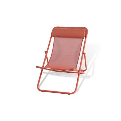 Central Park strandstoel Sevilla staal rood