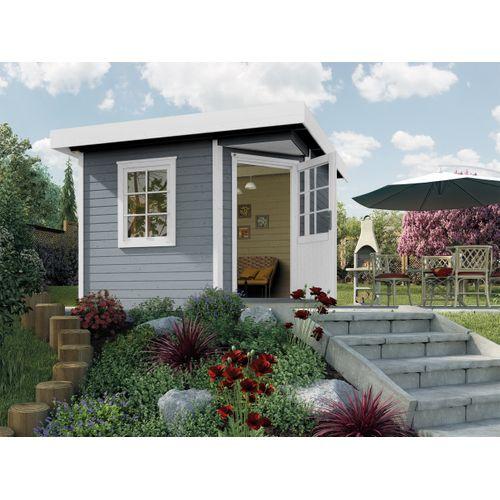 Abri de jardin Weka Design 213 + GR.1 gris 5,53m²