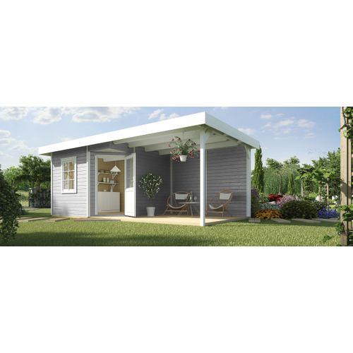 Abri de jardin Weka Design 213B + GR.2 gris 6,01m²