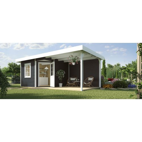 Abri de jardin Weka Design 213B + GR.2 anthracite 8,71m²