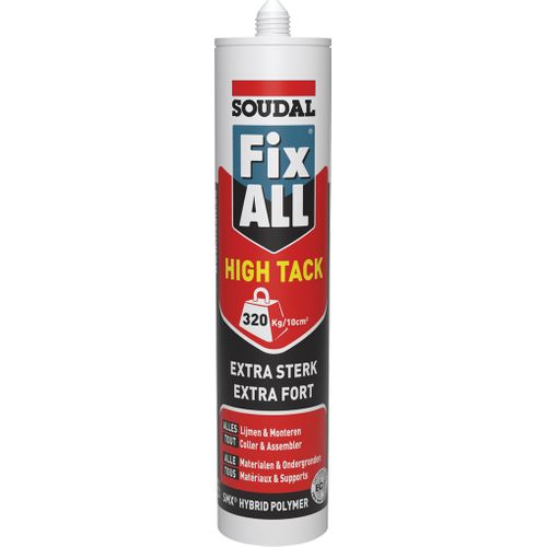 Soudal lijm 'Fix All High 'Tack' alu bruin 290ml