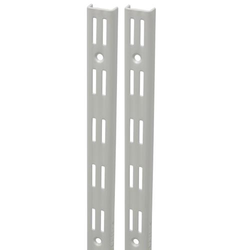 Duraline F-rail dubbel wit 150 cm