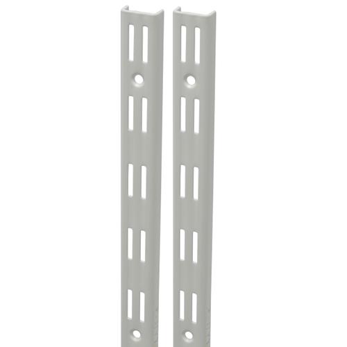 Duraline F-rail dubbel wit 200 cm